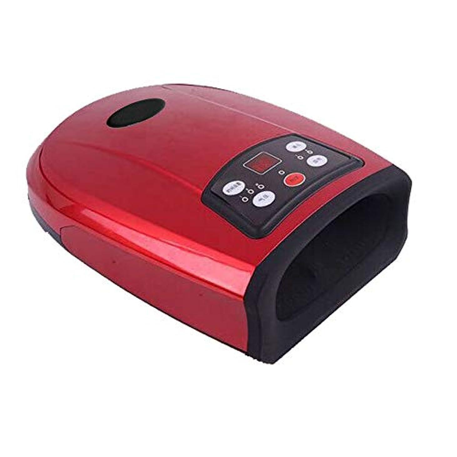私たち自身典型的な有限指のための空気圧熱圧縮装置が付いている指圧のやし手のマッサージ緊張のしびれの救助および血の循環の加速,Red
