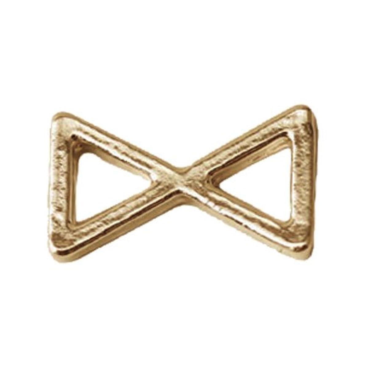 チキン誓い飾り羽プリティーネイル ネイルアートパーツ プレーンリボンM ゴールド 12個