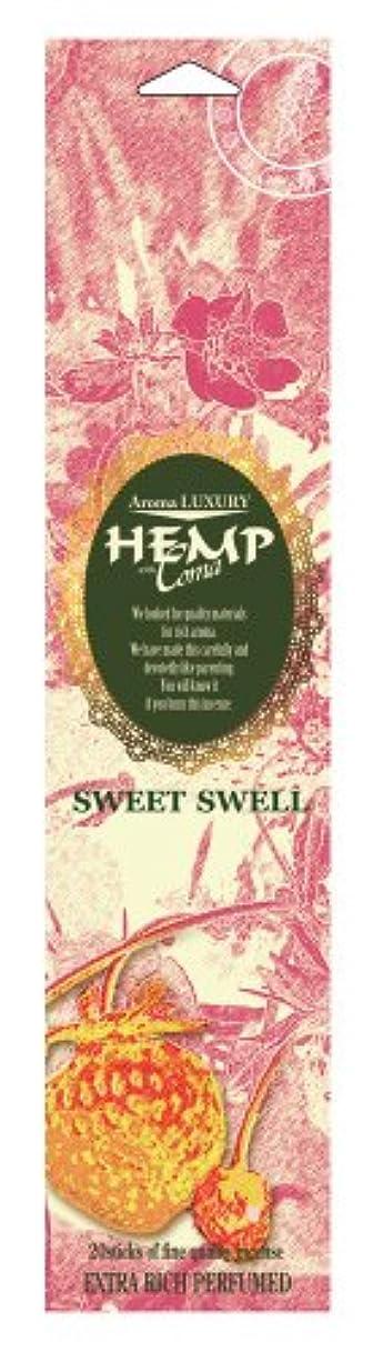 貢献する型立ち寄るHEMP お香 インセンス スウィートスウェル 20本入り OI-HCI-1-6