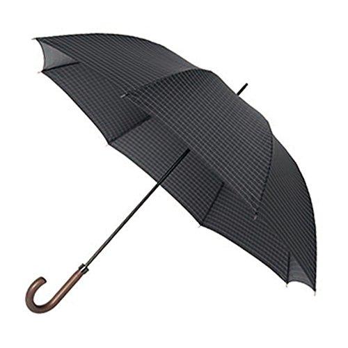mabu/マブワールド リフレクターアンブレラ(ノワール) 光を反射する反射糸を織り込んだ撥水生地使用!雨の日や夜道での視認性を高める!MBU-RU02 ブラックチェック 長傘