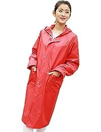 雨具 防水 女性用 通学 便利 ハイキング Ms. 防水 ウインドブレーカー ロングセクション 拡張 アウトドア 旅行 レインコート (サイズ : S)