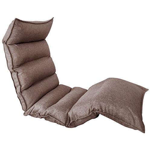 タンスのゲン 低反発 座椅子 へたりにくい スーパーハイバック ロング 42段階ギア リクライニング ファブリック グレージュ 15210038 01
