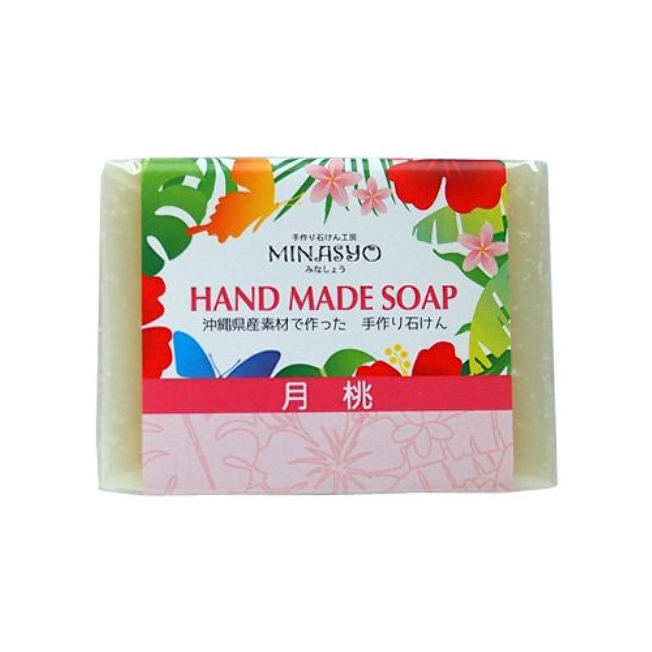 消費するジャンル自己尊重月桃石けん 約100g×6個 みなしょう 爽やかな香りのサンニンと海洋深層水配合 さっぱりな洗い上がり