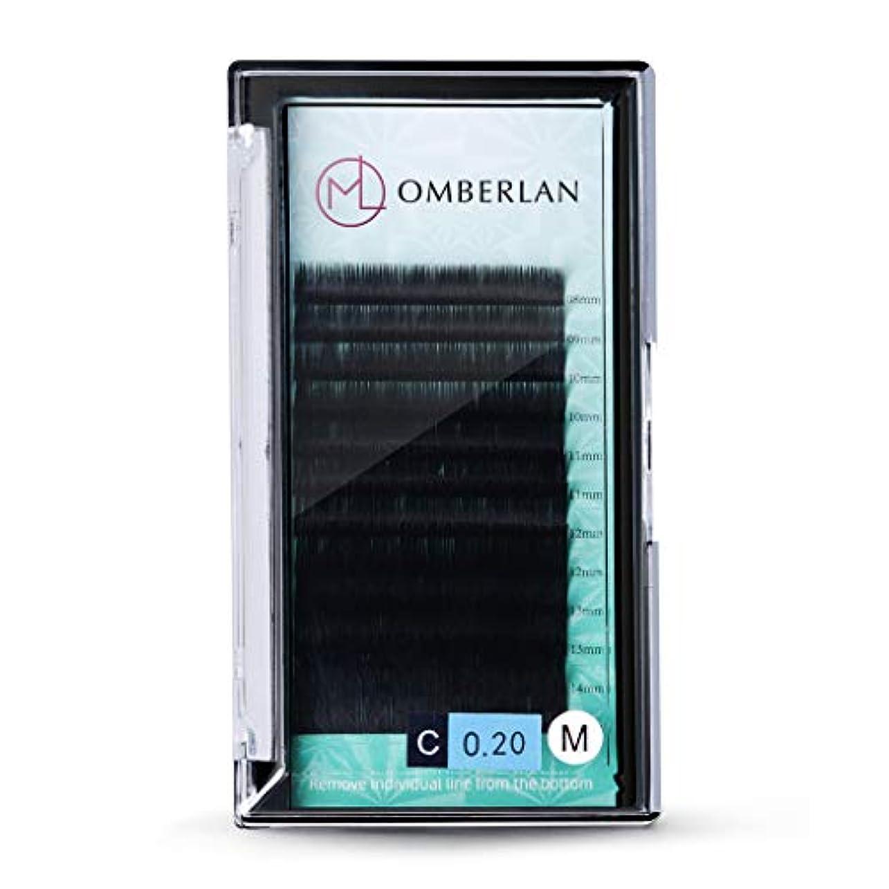統合注意不透明なOmberlanまつげエクステ0.2㎜厚Cカール 8-15㎜ ミックストレイ12まつげ、自然、ソフトで魅力的なプロ用まつげエクステ(Cカール 0.2㎜)