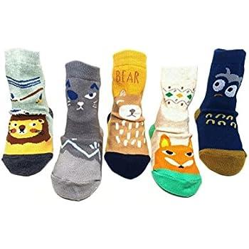 Non Slip Baby Socks 5-Pack set for 1-3 Year Baby