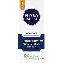 NIVEA MEN Sensitive SPF15+ Protective Moisturiser, 75ml