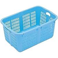 網目ボックス コンテナー 【No.800 金具付き】 ブルー スタッキング金具使用時:段積み可 『プラスケット』