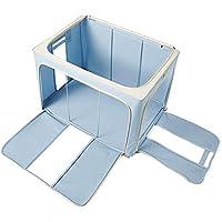 [QIFENGDIANZI]衣類収納ケース 旅行バッグ 布団収納袋 大容量 片づけ 引っ越しバッグ 運搬 防水防塵 湿気防止 カビ対策 水洗い 通気性抜群 ブルー 50*40*33CM
