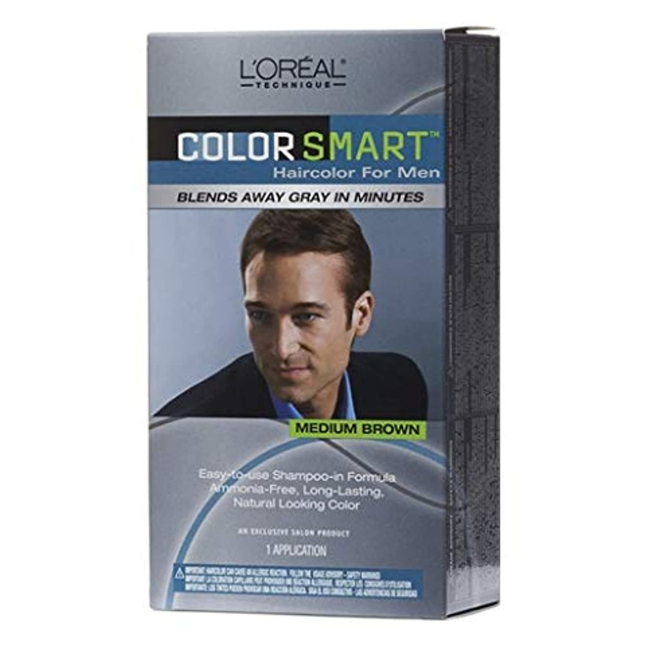 批判するマリナー条件付きL'Oreal Technique - Color Smart for Men - Medium Brown KIT