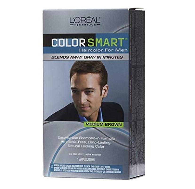 スワップ隔離する囲まれたL'Oreal Technique - Color Smart for Men - Medium Brown KIT
