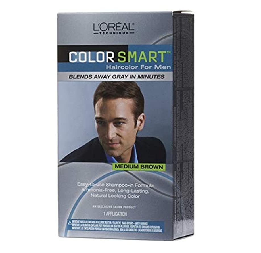類似性キリン机L'Oreal Technique - Color Smart for Men - Medium Brown KIT
