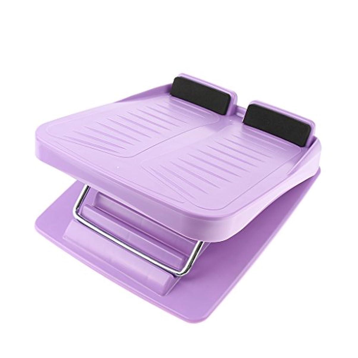 意図する吸収剤話をする3色 スラントボード アンチスリップ 調整可能 カーフストレッチ 斜面ボード ウェッジストレッチャー - 紫の