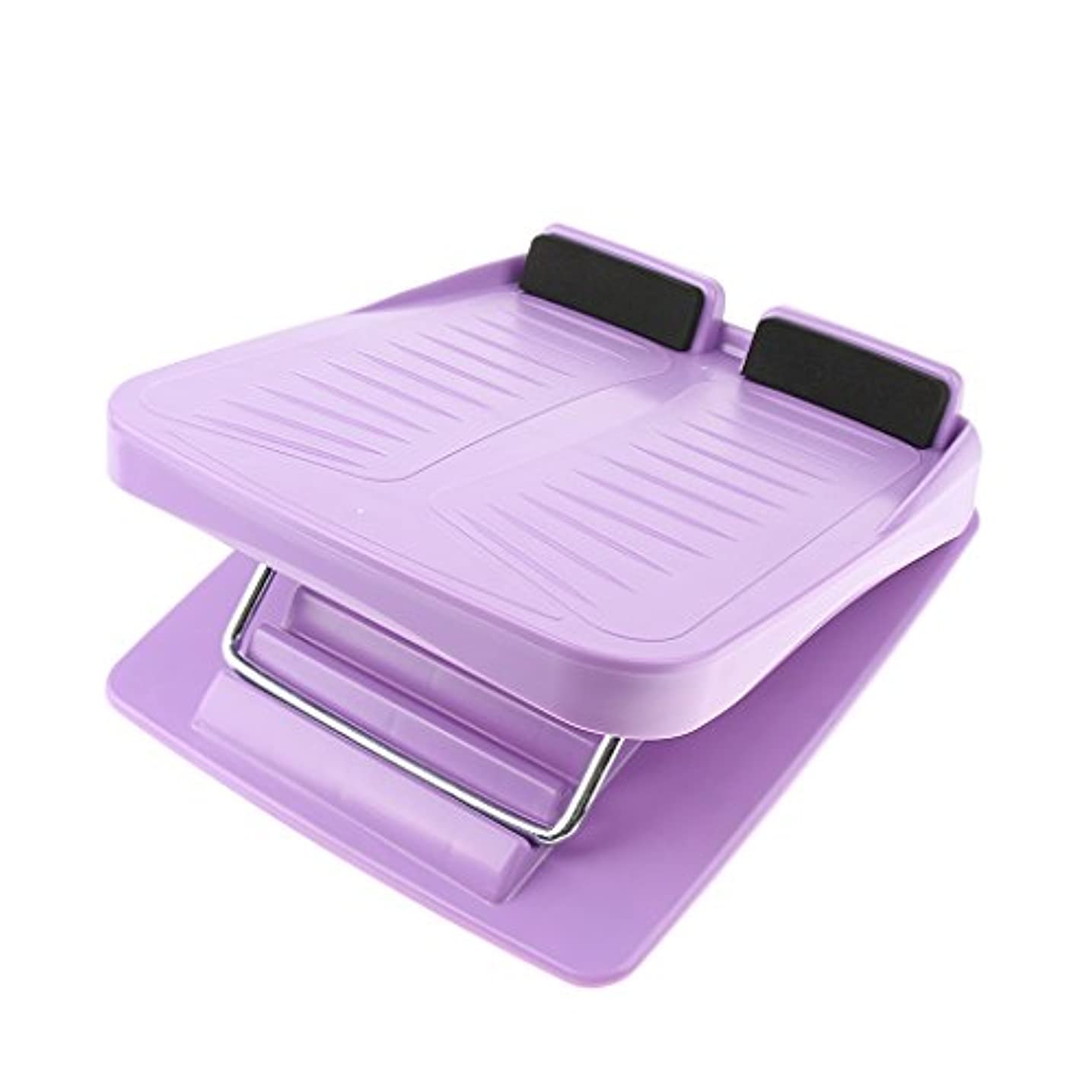 変化協定補助3色 スラントボード アンチスリップ 調整可能 カーフストレッチ 斜面ボード ウェッジストレッチャー - 紫の