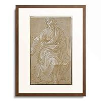 フィリッピーノ・リッピ Filippino Lippi 「Seated young man with draped cloak.」 額装アート作品