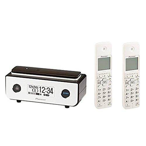 パイオニア Pioneer デジタルコードレス電話機 迷惑電話防止 ビターブラウン + 増設子機2台 ホワイト [TF-FD35S(BR) + TF-EK72(W)] 【国内正規品】