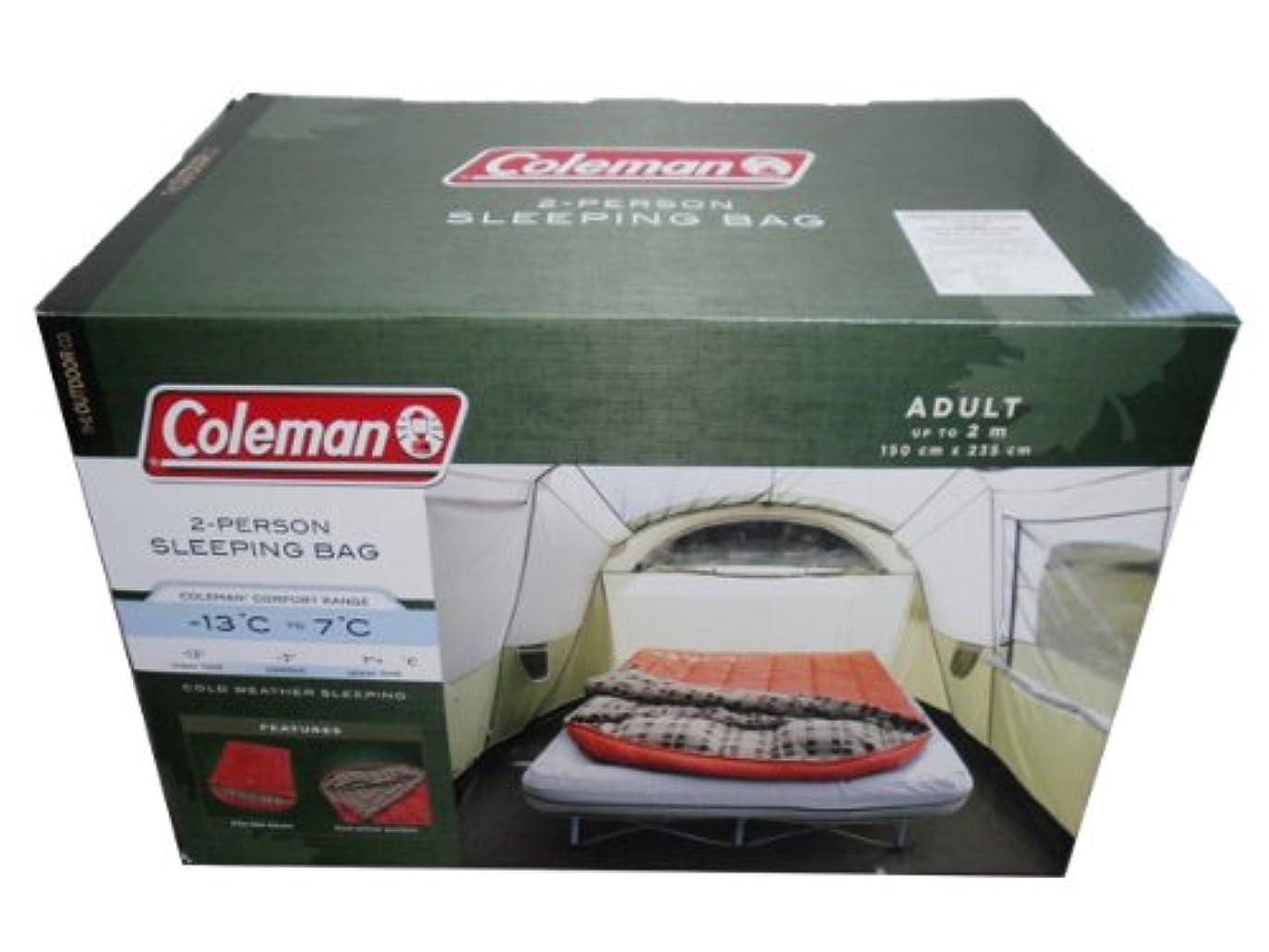 争うスリーブタフColeman コールマン 二人用スリーピングバッグ 寝袋 -13℃から7℃ 150×235cm 2-Person Sleeping Bag Model:2000012600《》