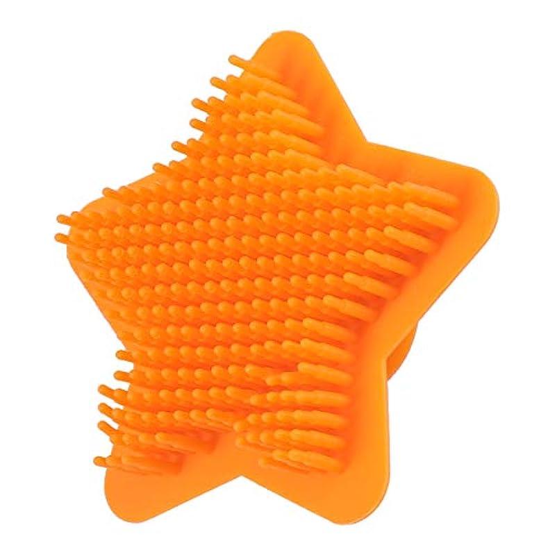 バルセロナラジエーター反応するHealifty シリコンボディスクラバーヘアシャンプーブラシスカルプソフトマッサージスクラバーブラシシャワーバスブラシ(オレンジ)