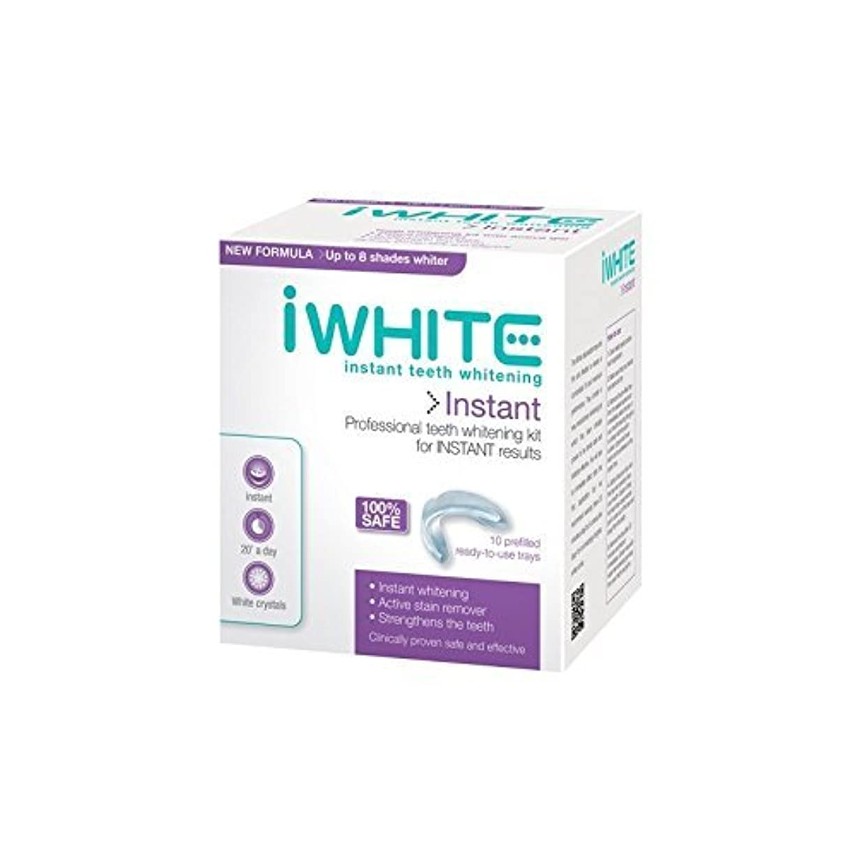 くるくる識別する取り除くiWhite Instant Professional Teeth Whitening Kit (10 Trays) - キットを白くするインスタントプロの歯(10個のトレー) [並行輸入品]