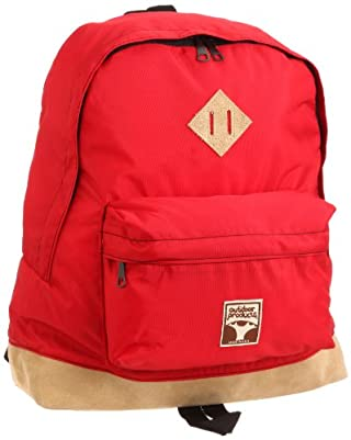 Leather Bottom Day Pack OD11-001: Red