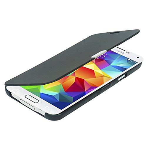 Samsung S5 ケース, Galaxy S5 ケース, [MTRONX] 軽量 高品質 超薄型 超耐磨 最軽量 手帳型 マグネット式 レザーケース サムサン Galaxy S5 対応 専用 Samsung Galaxy S5 カバー [ブラックBlack](MG-BK)