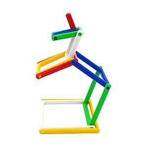 【JELIKU】おもちゃ 知育玩具 トイ 知育おもちゃ 組み立て 学習玩具 幼児早期教育 パズル DIY 脳トレ プレゼント 旅行 楽しい 面白い 想像力 コンパクト 片付け 簡単 女の子 男の子 子供 大人 キッズ 平面 立体 (Lサイズ) (カラフル)