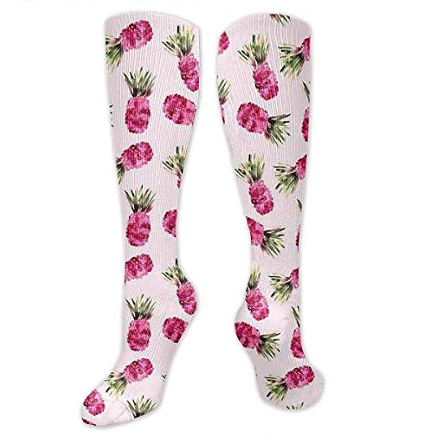 アーカイブメンター書き込み靴下,ストッキング,野生のジョーカー,実際,秋の本質,冬必須,サマーウェア&RBXAA Pink Pineapples Watercolor Socks Women's Winter Cotton Long Tube Socks...