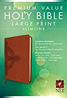 Holy Bible: New Living Translation, Cross, Premium Value, Slimline, Large Print