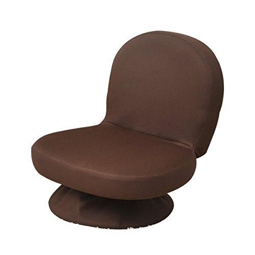 山善(YAMAZEN) 折りたたみ式回転座椅子 ダークブラウン SAGR-45-D(WDB)