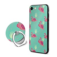 SuperIE IPhone 7 IPhone 8 専用 ケース スマホケース 携帯ケース リング付き フラミンゴ 携帯カバー ソフト 耐衝撃 指紋防止 全面保護 軽量 スクラッチ防止 スマホ アイフォンケース