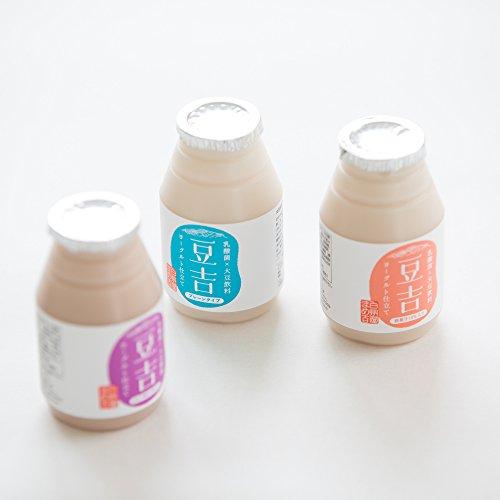 【送料無料】発酵飲料 飲む大豆ヨーグルト 豆乳ヨーグルト(乳酸発酵大豆飲料) 豆吉 3種セット 150g×24本 八ヶ岳南麓産 大豆まるごと。なのに飲みやすい。 グルテンフリー アレルゲンフリー