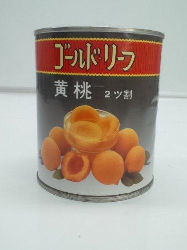 ゴールドリーフ 黄桃 ハーフ2号缶(480g)