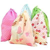 ポータブル再利用可能な不織布防塵巾着ドレスシューズ収納バッグポーチケース10個セット折りたたみ式通気性トートバッグ