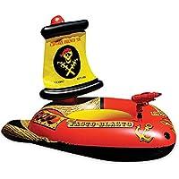 子供用浮き輪 フロート 浮輪 浮き具 足入れ 水鉄砲付き キッズ ビーチ用 プール スイミング スイム 水泳 水遊び リゾート 夏の日 海賊船 ボート形