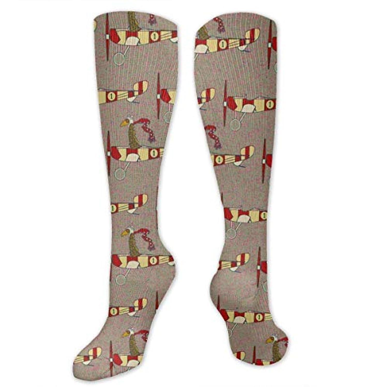 複製するスラム街ブロックする靴下,ストッキング,野生のジョーカー,実際,秋の本質,冬必須,サマーウェア&RBXAA Flight School Aircraft Small Socks Women's Winter Cotton Long Tube...