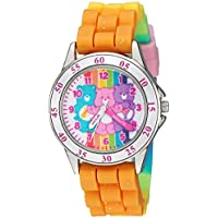 Care Bears Girls' Analog-Quartz Watch with Rubber Strap, Multi, 15.6 (Model: CRB9001