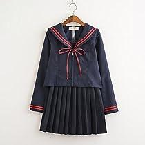 イベント 祭り セーラー服 4セット(上着+スカート+リボン+靴下) (M)