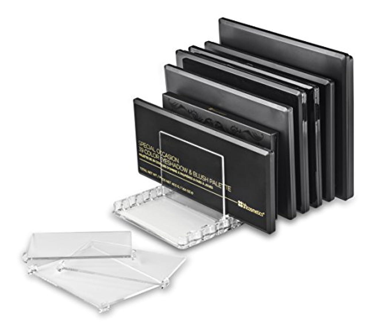 バズ増幅に応じてbyAlegory取り外し可能な仕切り付きアクリル製メイクパレットオーガナイザー10個のスペースはすべてのパレットサイズに適合