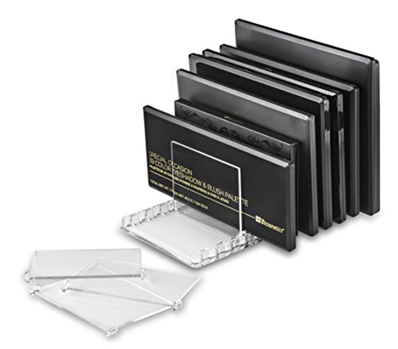 バレルアウターグラムbyAlegory取り外し可能な仕切り付きアクリル製メイクパレットオーガナイザー10個のスペースはすべてのパレットサイズに適合