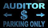 LED看板 ネオンプレート サイン 電飾・店舗看板・標識・サイン カフェ バー ADV PRO m154-b Auditor Parking Only Neon Light Sign