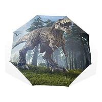 LUYISI 日傘 折りたたみ 軽量 手開き 折り畳み傘 レディース uvカット 恐竜柄 森林 風景 梅雨対策 耐風撥水 晴雨兼用 収納ポーチ付き