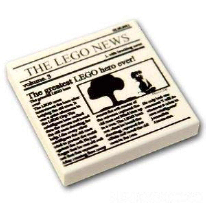 レゴブロック ばら売りパーツ タイル 2 x 2 - 新聞'THE LEGO NEWS' :[White / ホワイト] [並行輸入品]