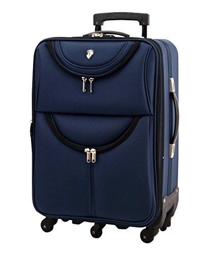 M型 ネイビー / newFS1538 ソフト スーツケース キャリーケース TSAロック搭載 超軽量(3~5日用)