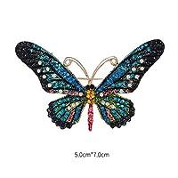 kinmyte 蝶ブローチ服花束ドレス昆虫動物バッジスカーフ装飾ファッションラインストーン繊細な女性ママ女の子ギフト(1ピース)