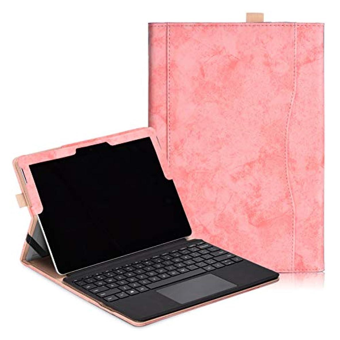 販売計画。権利を与える【ANNNGROUP】Surface Go ケースマイクロソフト Surface Go 10インチタブレット スタンド機能付きペンホルダー付き 全6色可選タブレットカバー タッチペン付き(ピンク)