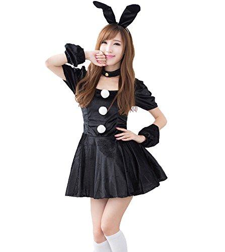 Xiton ハロウィン バニーガール 仮装 コスプレ衣装 ウサギ ドレス コスチューム