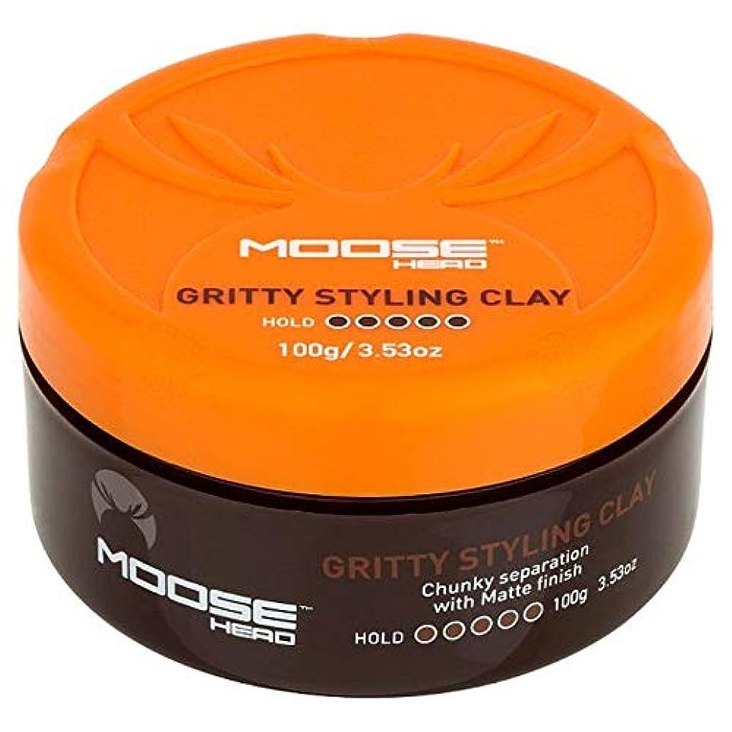 びっくりするミント法的[Moosehead] Mooseheadザラザラスタイリングクレイ100グラム - Moosehead Gritty Styling Clay 100G [並行輸入品]