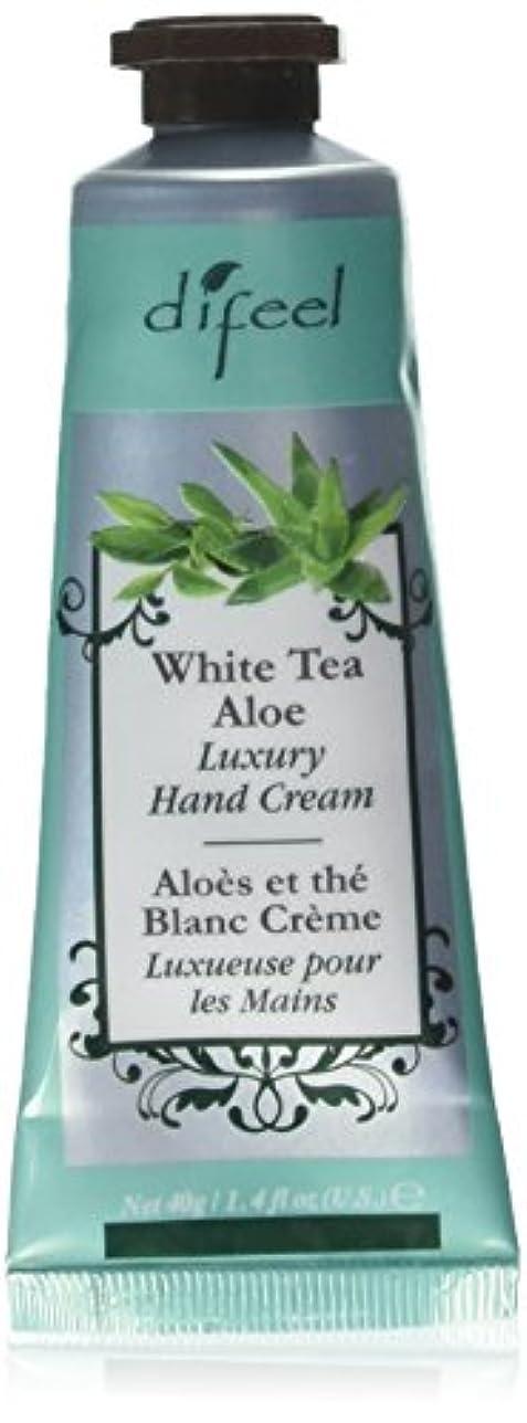 膨張する欲しいです夜明けにDifeel(ディフィール) ホワイトティー&アロエ ナチュラル ハンドクリーム 40g WHITE TEA&ALOE 07WTA New York 【正規輸入品】