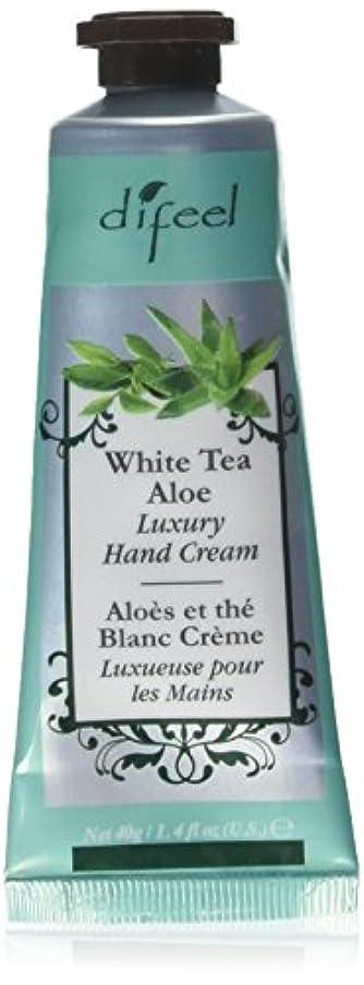 不正冷酷なマネージャーDifeel(ディフィール) ホワイトティー&アロエ ナチュラル ハンドクリーム 40g WHITE TEA&ALOE 07WTA New York 【正規輸入品】