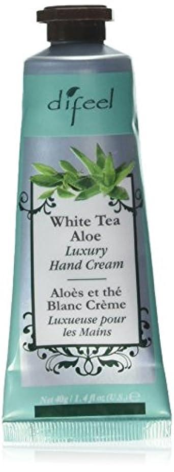 大通り通知現代のDifeel(ディフィール) ホワイトティー&アロエ ナチュラル ハンドクリーム 40g WHITE TEA&ALOE 07WTA New York 【正規輸入品】