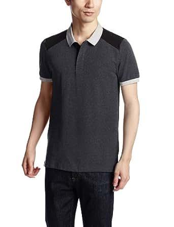 (ジョルダーノ)GIORDANO カラーブロッキングデザインポロ半袖 31013034 41 41 - DHG x c. black M